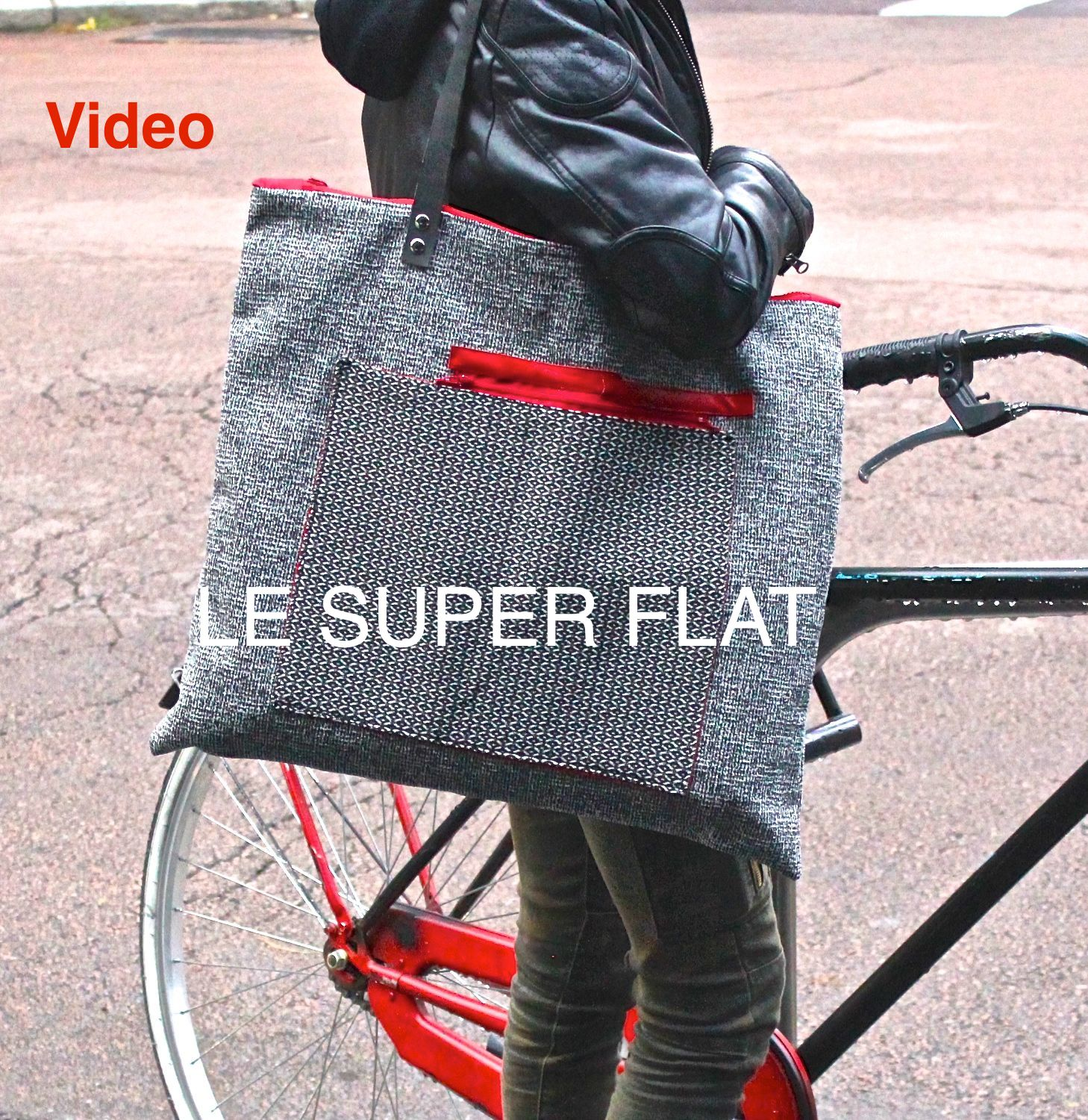 Video delle ultime SUPER FLAT, le tote squadrate di TEKOA MILANO